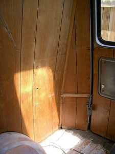 Passenger side rear paneling.  May need this image if I put the paneling back in after re-painting.