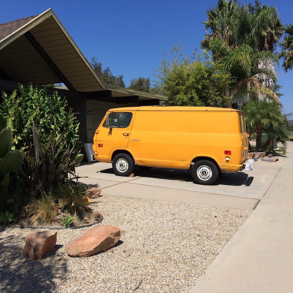 60's house, 60's van!