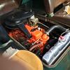Rebuilt 230 ci, straight 6, 3 speed engine and new radiator.