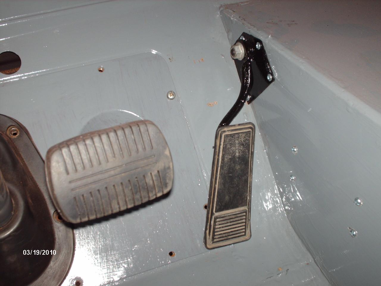 throttle pedal set up