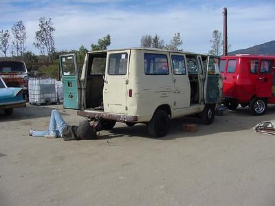 VanAgain removing gas tank