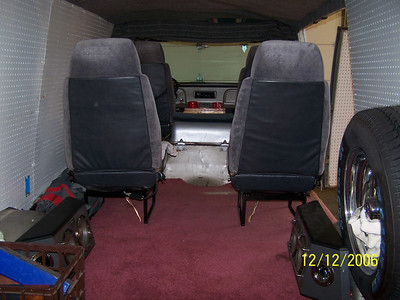 Rear view of seats in 67-90. All seats have headrest speakers.