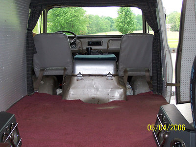 Rear view of 67 with orginal seats still in it.