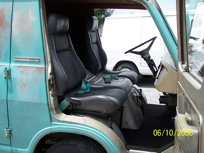 Had to install Fiero seats after it got home. Added seatbelts from 68 doner van.