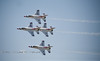 Air Force Thunderbirds Fly-by's @ THe Cheyenne Frontier Days Rodeo - Photo by Pat Bonish