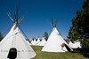 Indian Village at the Cheyenne Frontier Days Rodeo