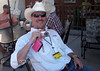 John Klein with his shiny pink Canon Point & Shoot - Next year all the photographers are going to have one - Cheyenne Frontier Days Rodeo