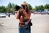 Cindy out and about shooting the Spectators - Cheyenne Frontier Days Rodeo