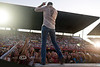 Rodney Atkins in front of a packed house - Cheyenne Frontier Days Rodeo - Photo by Pat Bonish