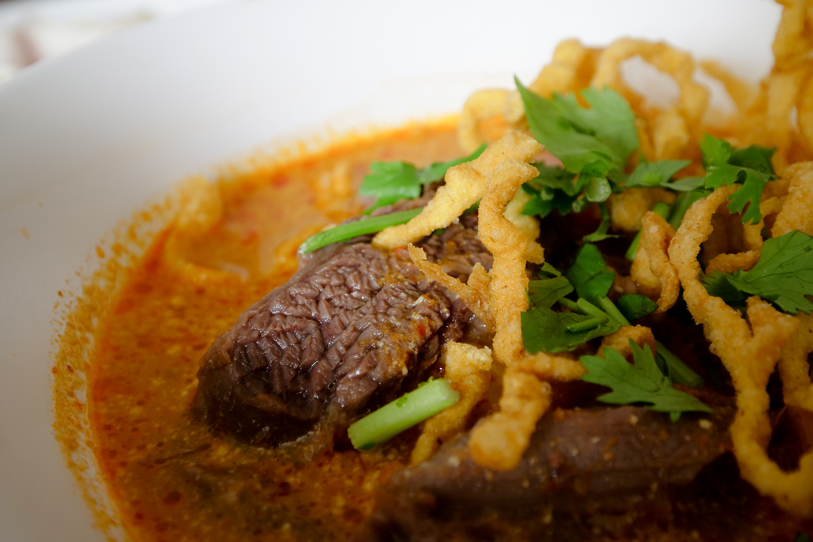 Beef Khao Soi is my favorite way to have this food.