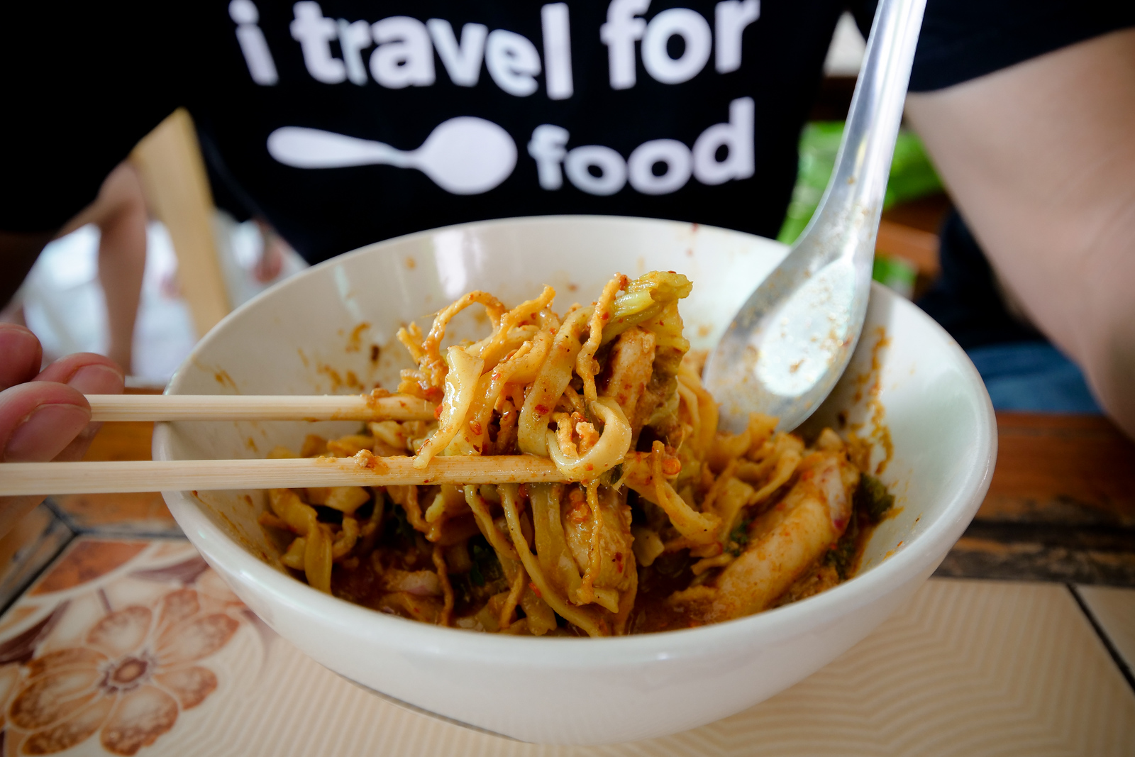 Chicken curry noodles at Khao Soi Khun Yai