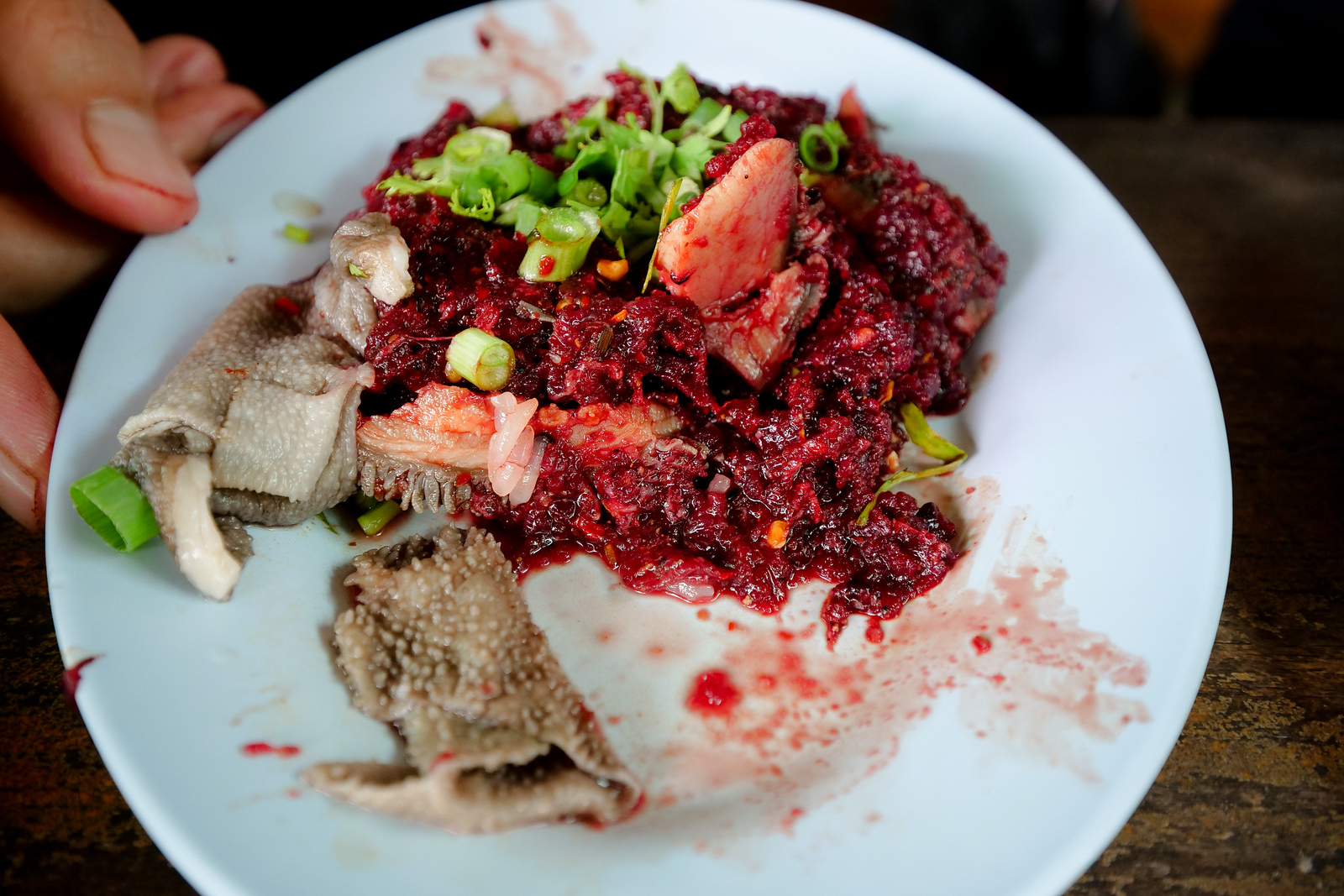 Sticky Rice and Raw Meat