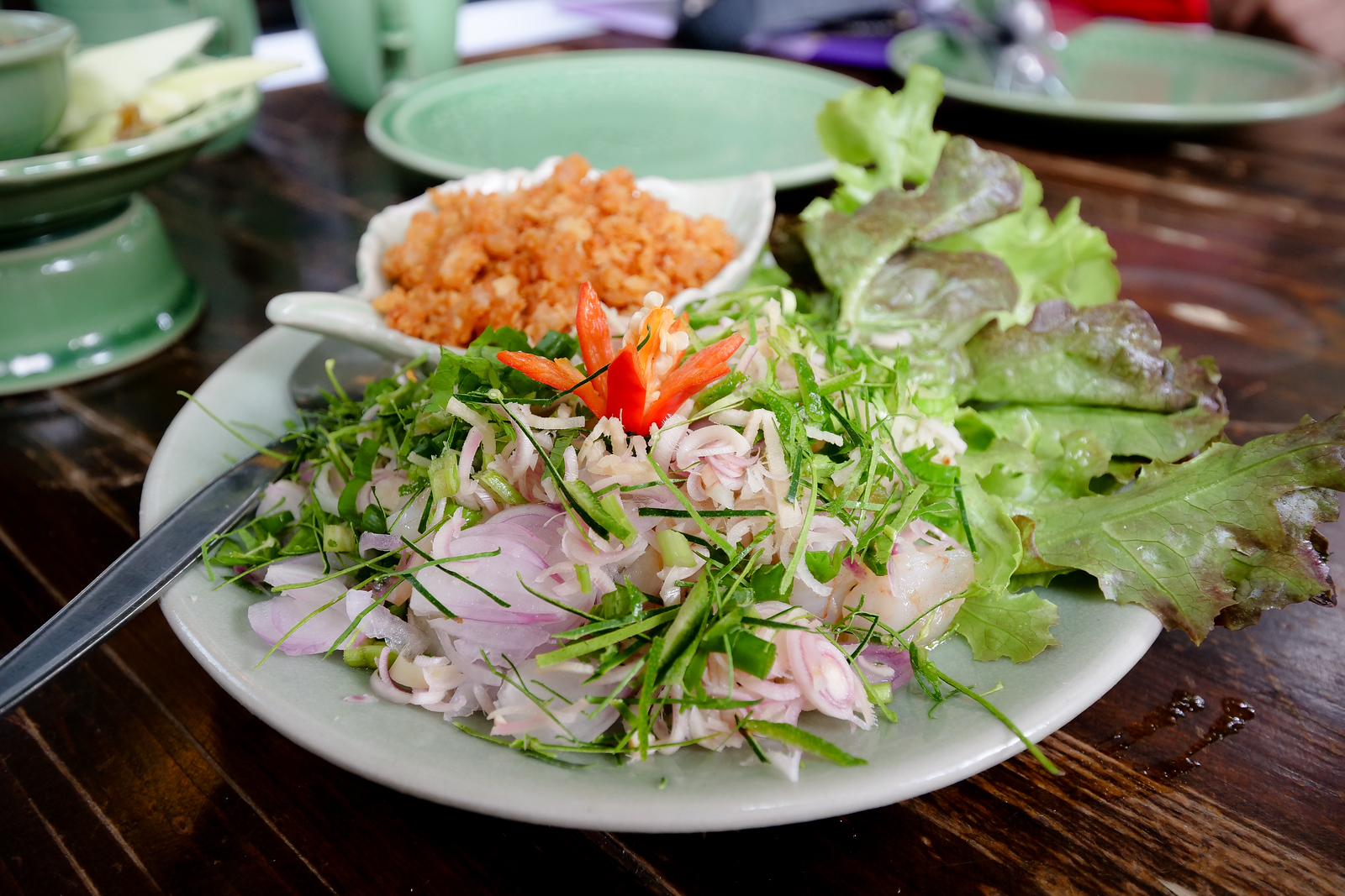 Dried Shrimp Salad with Rice