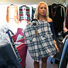 Ashley Lyons, owner of Chic Boutique in Tyngsboro, talked about her store on Monday and how she is trying to market to millennials for there back-to-school consignment shopping. this shirt that she had for sale in her shop  was maa Rails flannel sleeve less shirt that was made famous after it was worn by someone on the Real House wife's of Orange County. SUN/JOHN LOVE
