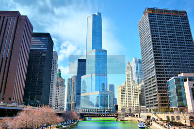 Chicago on St. Patricks Day.