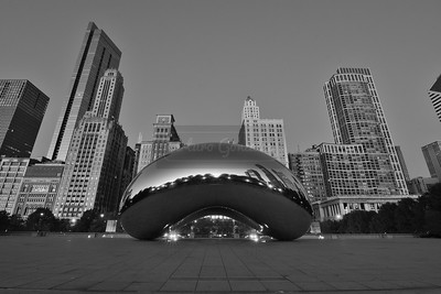 Cloud Gate in B&W.