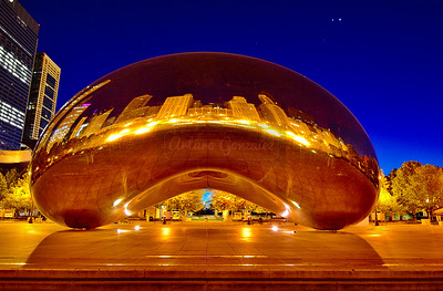 Cloud Gate at dawn.
