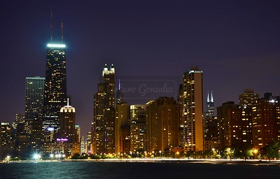 View of Chicago from North Ave beach.