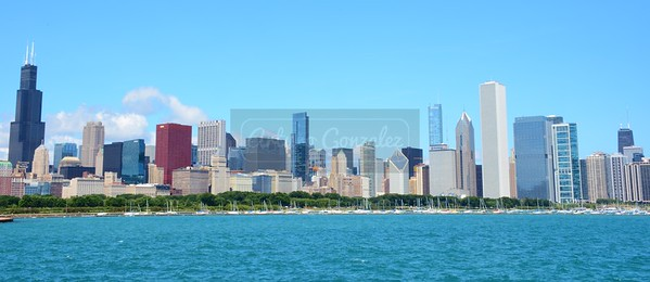 Total view of downtown Chicago.