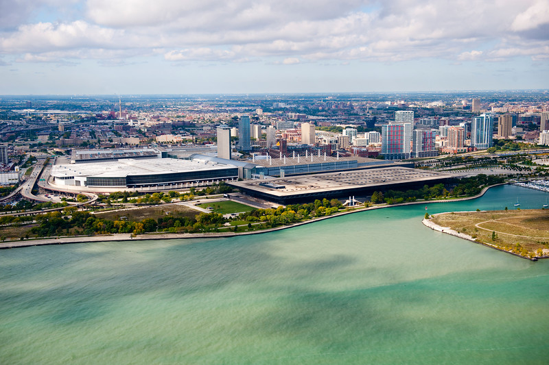 Aerial view of McCormick Place