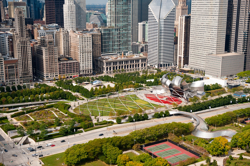 Aerial view of Millennium Park