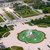 Aerial view of Buckingham Fountain
