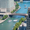 Chicago River aerial tour boats kayaks river traffic