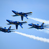 Blue Angels in tight inverted formation at Chicago Air and Water Show