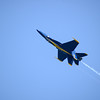 Blue Angel flies inverted at Chicago Air and Water Show