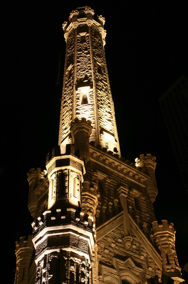 Chicago's Water Tower.  Built in 1869, this was one of the only buildings to survive the Chicago fire in 1871.