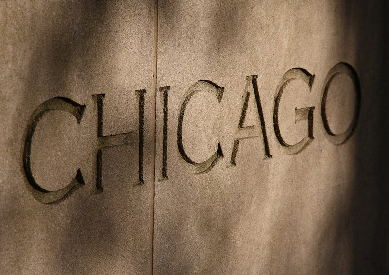 Chicago, written in stone.
