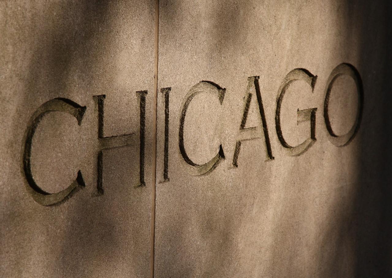 Chicago, written in stone.