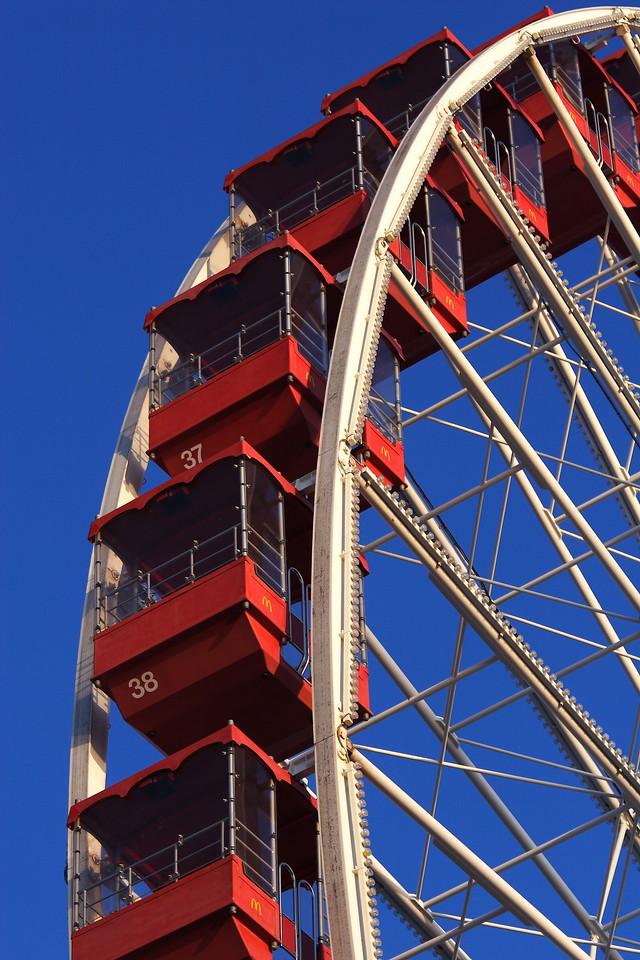 The Navy Pier Ferris Wheel, taken on an early spring morning.