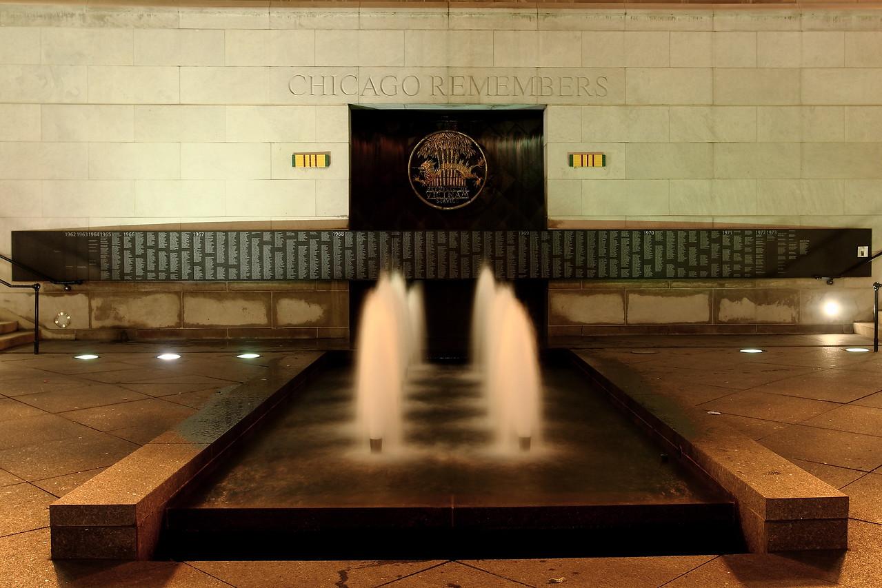 Chicago's memorial to Veterans of the Vietnam war.
