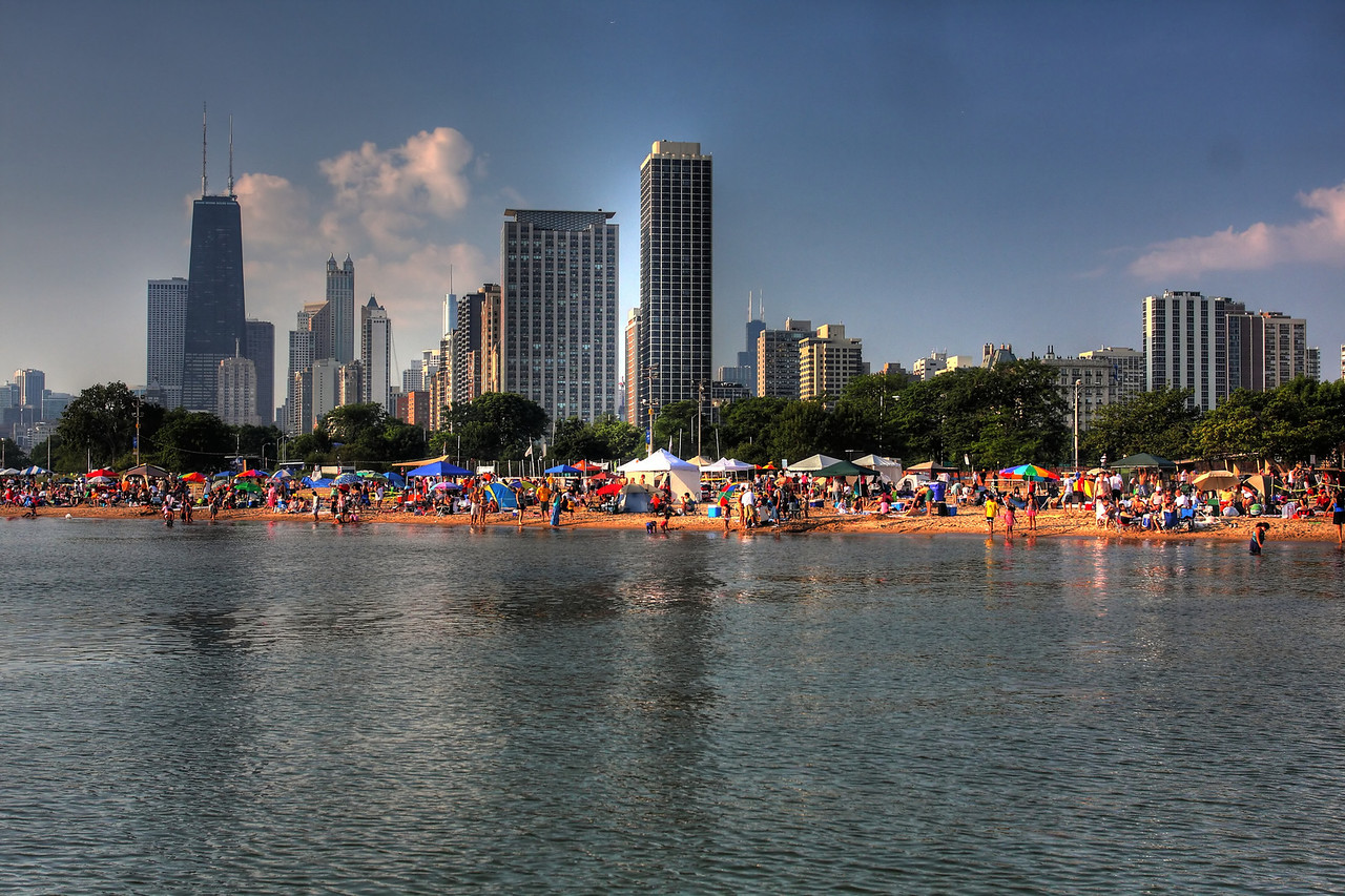 <center>North Ave. Beach during the 2009 Air & Water Show.</center>