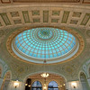 The world's largest Tiffany art glass dome located in Preston Bradley Hall in the Chicago Cultural Center, 78 E. Washington Street.