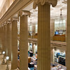 Interior Ionic columns of the Bank of America building on LaSalle Street.