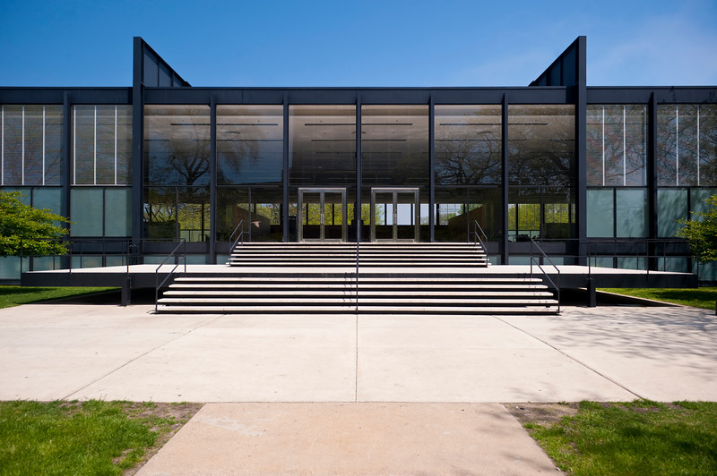 Crown Hall on the campus of IIT, designed by Ludwig Mies van der Rohe, is one of the defining structures of 20th-century modern architecture.