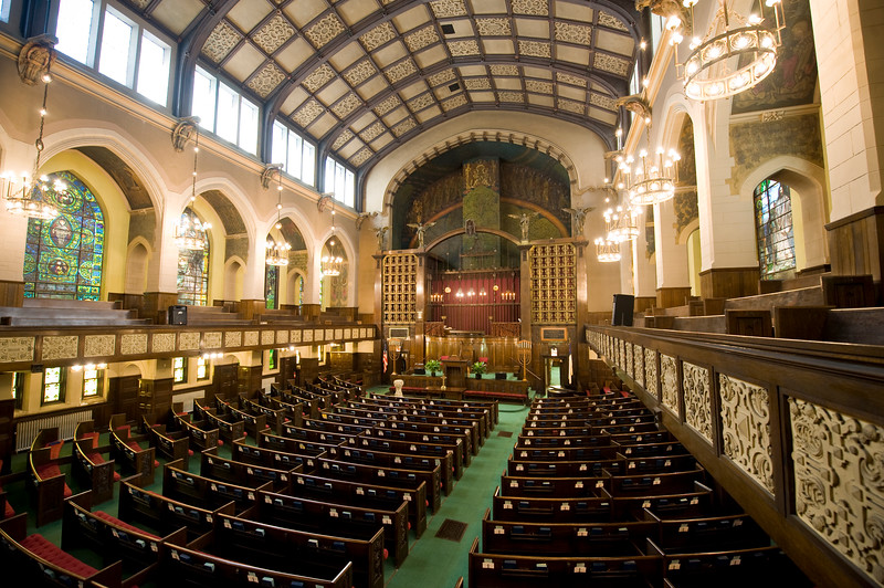 Interior of the 2nd second Presbyterian Church on South Michigan Avenue historic architecture