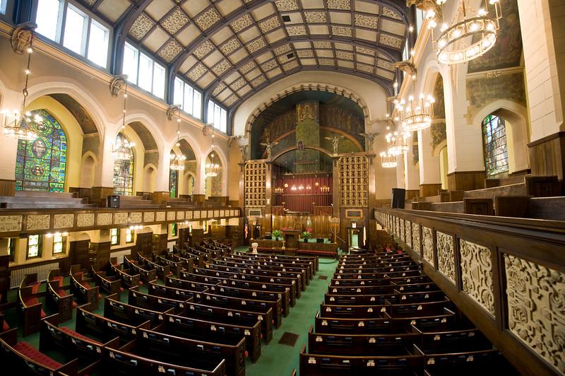 Interior of the 2nd second Presbyterian Church on South Michigan Avenue historic architecture