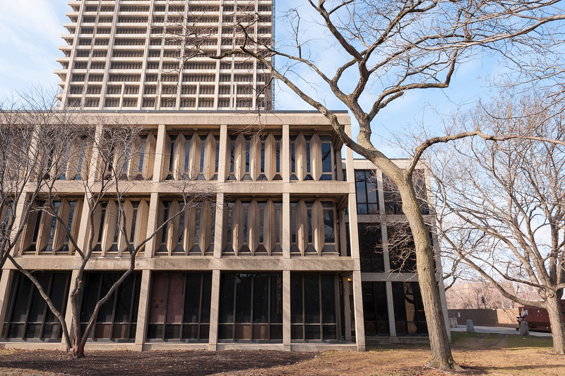 UIC University of Illinois Chicago campus buildings brutalism brutalist architecture concrete