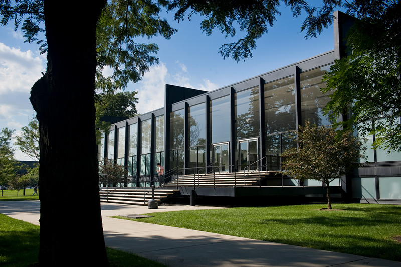 Mies van der Rohe's landmark S.R. Crown Hall at the Illinois Institute of Technology.