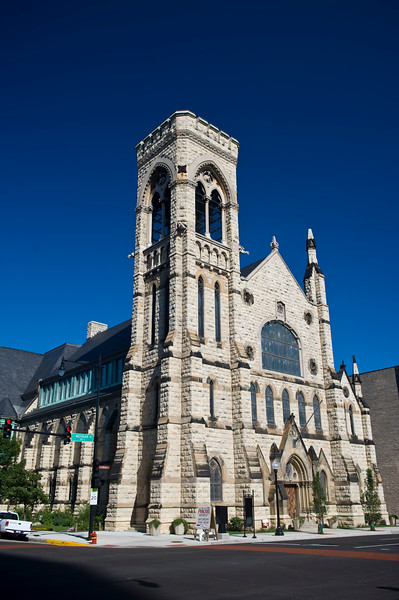 Exterior of the second Presbyterian Church on 20th and South Michigan Avenue historic architecture