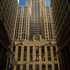 Chicago Board of Trade landmark building at foot of LaSalle Street