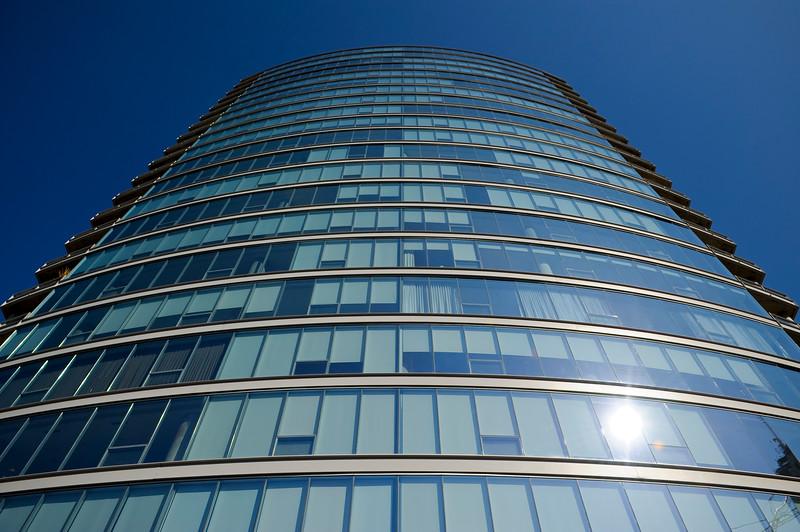 exterior of the New condominium tower building modern architecture