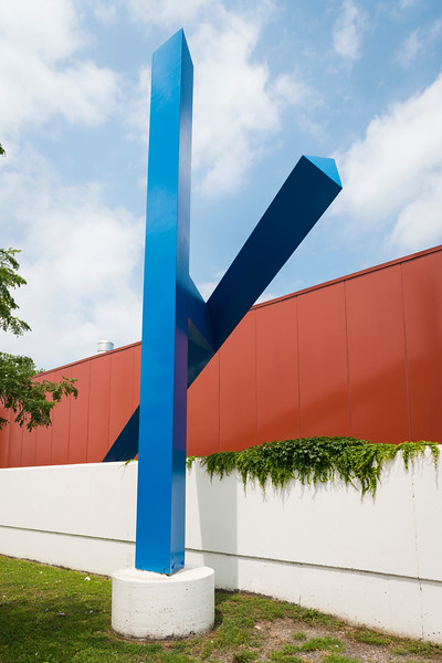 "public art collection ""Pyxis"" sculpture by Bruce White at Chicago Fire Department 16th District at 4900 W. Chicago Ave. in Austin"