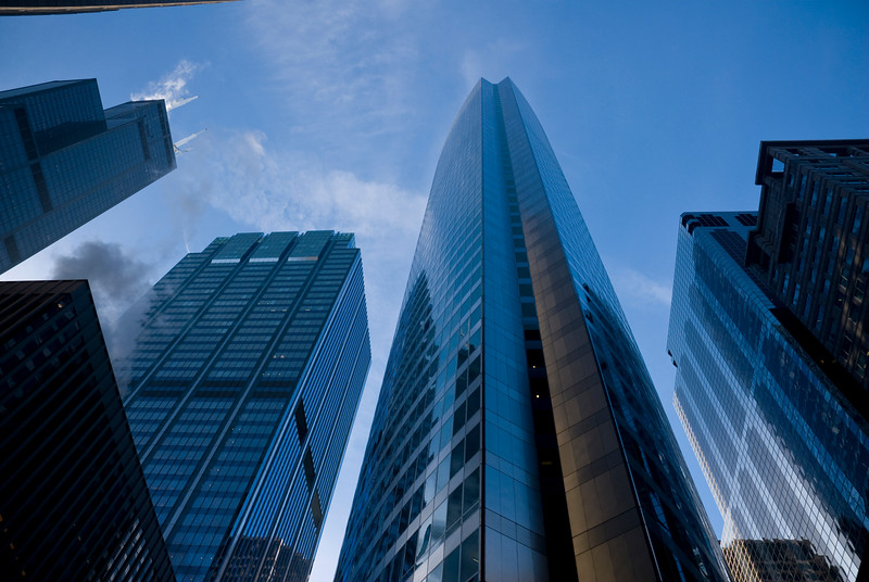 Modern skyscrapers in Loop.