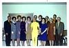 Rex & Jean Aten, ?, Gwen, Shirley (Swinyard) McKay, Shirley Kennecott, Marilyn Taylor, Bro. & Sis. Harlow<br /> Back Row: ?, Glen & Sherry Oliver, Verl Taylor