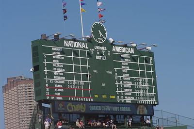 The Wrigley Field Scoreboard