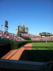 View from our Wrigley Field Seats